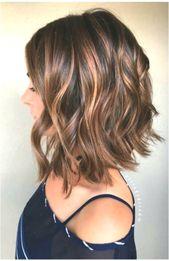 Ich brauche eine neue Frisur für mittellanges Haar #Frisurenlang #middleparthairstyleslong