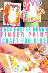 Make this easy, simple finger paint Easter craft with your kids. It only takes a…