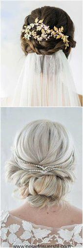 Schöne lange Hochzeitsfrisuren für Damen #damen #hochzeitsfrisuren #lange #sc
