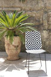 Ma jolie chaise de jardin à motif déco