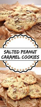 Galletas con maní salado y caramelo   – Backen