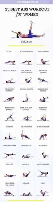 25 besten Bauchmuskelübungen für Frauen. Holen Sie sich bauchfreie Bauchmuskeln mit diesen