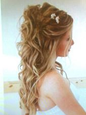 Festive hairstyle half open
