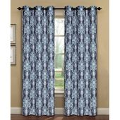 Window Elements Meridith Damask Sheer Curtain Panels