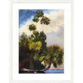 """Hochland-Dünen """"Küstenpalmen Florida"""" durch Winslow Homer gestaltete grafische Kunst"""