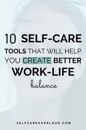 Self-Care-Tools zur Verbesserung der Work-Life-Balance – Self Care Tips Group Board