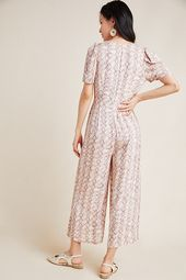 Lisette Wide-Leg Jumpsuit by Greylin in Pink Size: Xl, Women's Jumpsuits at …