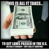 Legalisierung von Bestechung durch Änderung des Namens. #America and it's #conditioni … – Greedy disgraceful  hypocrites and Scumbags !!