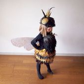 Biene Kostüm selber machen | Kostüm Idee zu Karn…