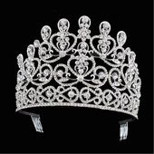 (eBay Ad) 10cm High Adult Large Crystal Wedding Bridal Party Pageant Prom Tiara Crown Comb