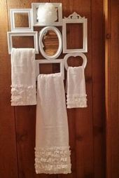 25 Kreativ einfache dekorative Handtücher für Badezimmer Ideen