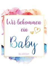 Wir bekommen ein Baby – Fotokarten für die Schwangerschaft