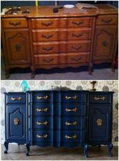 15+ super ideas for diy furniture projects dresser buffet  – Furniture restoration