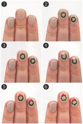 20 fabelhafte und einfache DIY Weihnachten Nail Art Design Tutorials   – nails