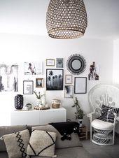 Erstellen Sie eine Wand aus böhmischen Rahmen mit Pinterest-Bildern. #murdecadre #murd …   – DIY