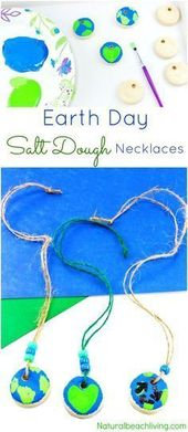 Earth Day Crafts Preschoolers Love to Help Make – Salt Dough Necklaces