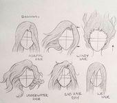 30+ erstaunliche Ideen und Inspirationen zum Zeichnen von Haaren – #Erstaunlich #Zeichnen #Ideen