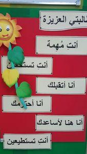 كل طالبه من طالباتي لها أهمية خاصه لأنها تستحق الأفضل لا احكم على أي منهن بشكل مسبق وا Arabic Kids Kindergarten Classroom Decor Muslim Kids Activities