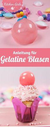 Machen Sie einfach selbst Gelatinekugeln und als Dekoration für Torten, Kuchen …   – Seifenblasen Party