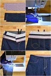 Jeans nähen Teil 11: Der Hosenbund