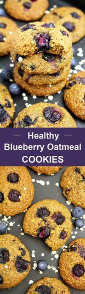 Gesunde Heidelbeer Haferkekse – Dessert Heidelbeeren – #Blaubeeren #Blau …
