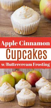 Dieses Rezept für Apfel-Zimt-Cupcakes mit Buttercreme-Zuckerguss ist …