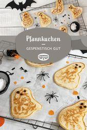 Gespenster-Pfannkuchen – Halloween: schrecklich leckere Rezepte