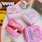 Small Cute Zipper Pouch PU Leather Cosmetic Organizer