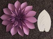 Plantilla de flor de papel DIY #2, telón de fondo de la flor de papel, copia impresa, pétalos de flores de papel