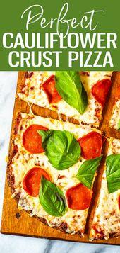 Dies ist die perfekteste kohlenhydratarme Blumenkohl-Pizza-Kruste, die es gibt (nur 3 …   – Health Foods