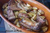 Cocinar con Montse: costillas marinadas al horno con papas   – Carnes