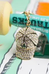 Bling Cap Keychain | Gold Bag Charm – Purse Charm, Pendant, Jewelry, Key Ring, Key Holder, Organizer, Rhinestone Keychain, Christmas Gift