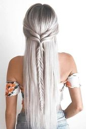 : 30 coolest long hair haircuts for every length and texture – half up braiding for long hair picture2 – #babyhairstylesboy #babyhairsty …