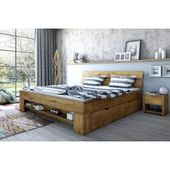 Doppelbett Siumu 21, Farbe: Beige – 160 x 200 cm (B x L) Steinersteiner