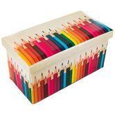 Colored Pencil Storage Ottoman Colored Pencil Storage Pencil Storage Pencil Organizer