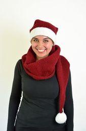 Christmas Hat Scarf Crochet Pattern – Sun Hat For Women