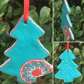 Salt Dough Christmas Tree Bell and Snowflake Ornaments Baubles – Wedding Birthday Christmas Special