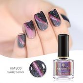 Cat Eye Nail Polish 3D Magnetic Glitter Varnish Magnet Nail Art Lacquer Black Ba…