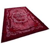 Turkish Handmade Handgefertigter Teppich aus Wolle/Baumwolle in Rot Blue Elephant