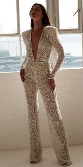 Trend 2019: 27 Wedding Pantsuit & Jumpsuit Ideas ♥ We offer to consider weddin…