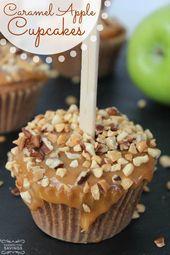 Karamell Apfel Cupcakes Rezept! Ein einfaches Rezept für Herbst- und Winterdesserts …
