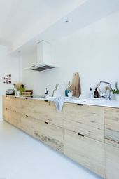 my scandinavian home: Rough wood kitchen featured in the interior book: 'How