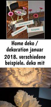 Home deko / dekoration januar 2018. verschiedene beispiele. deko mit holz und tu… 5