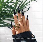 30 große Stiletto Nail Art Design-Ideen #nailideas #naildesigns – Stiletto Nail Art   – Nägel / Nails