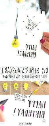 Geburtstagsgeschenke selber machen: Drei DIY Ideen, #DIY #Drei #Geburtstagsgesch…