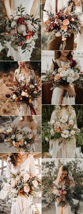 Top 20 Boho Chic Wedding Bouquet Ideas for Fall 2019