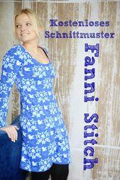 Instructions gratuites – Patron de couture Fanni Stitch   – Kleid nähen