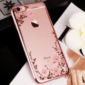 Flower Floral Rhinestone Clear Telephone Case – Vogue Fashionable Store