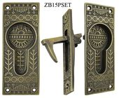 $122.70 Windsor-Pattern-Single-Pocket-Door-Set-(ZB15PSET) Door Plates: Each meas...