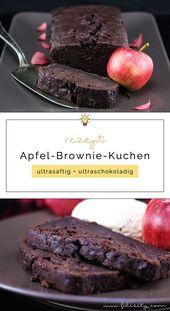 Apfel-Brownie-Kuchen – extra saftig und schokoladig – Goldener Blogger-Herbst